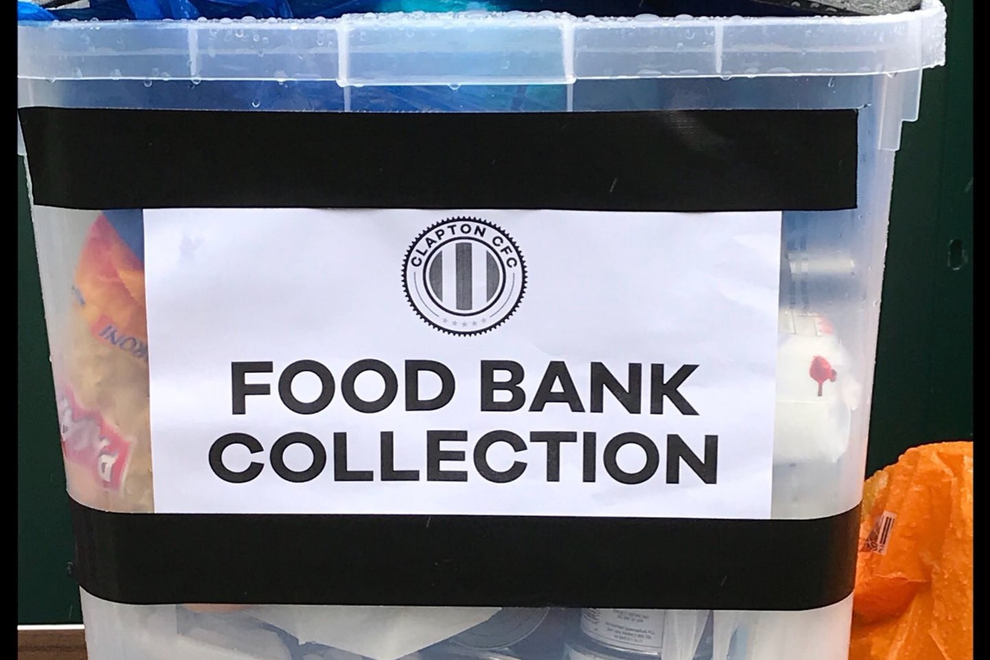 Were Collecting For The Eat Or Heat Foodbank Again At The