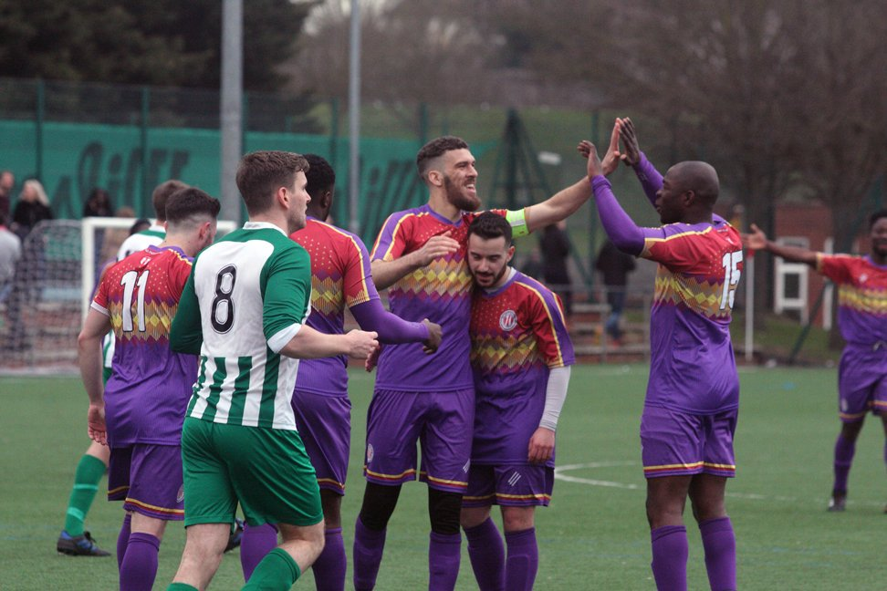 Tons celebrate goal against Wilberforce Wanderers