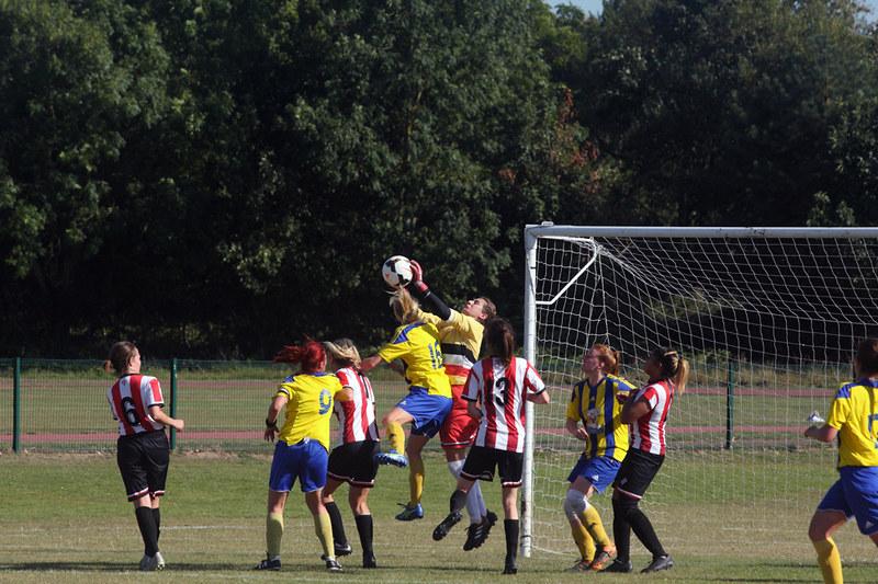 Polly Adams claims cross vs Regents Park Rangers